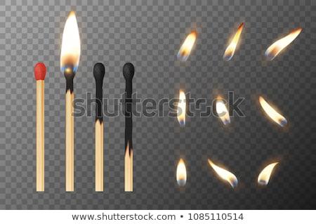 gyújtás · gyufa · fej · doboz · tűz · tárgy - stock fotó © ia_64