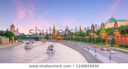 rivier · Rusland · water · stad · bomen · groene - stockfoto © reticent