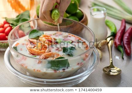 ココナッツミルク キノコ 野菜 辛い タイ料理 ストックフォト © yanukit