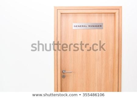 Zakenman algemeen manager deur interview kantoor Stockfoto © stevanovicigor