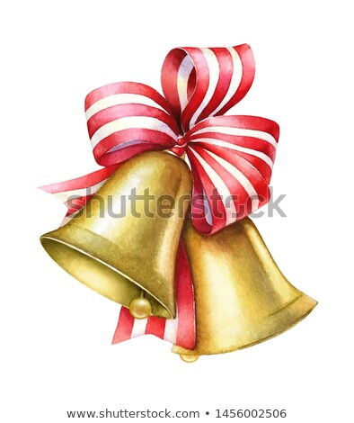 Yellow bell with red ribbon stock photo © aliaksandra