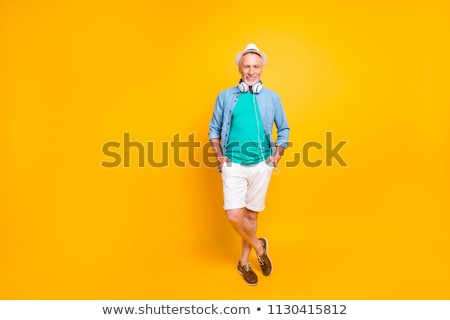 Modelo corto shorts foto estudio Foto stock © dash