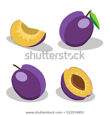 Cristalizado ameixa fruto para cima fechar Foto stock © marekusz