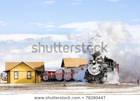 узкий железная дорога Колорадо США пейзаж Сток-фото © phbcz