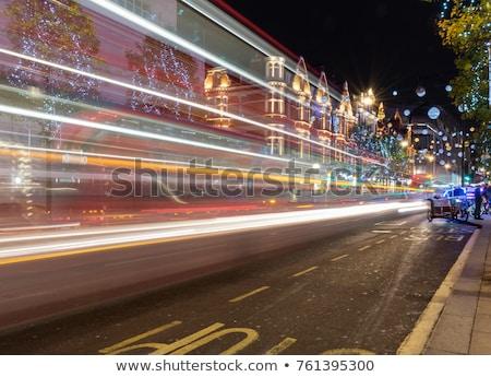 Oxford calle Navidad foto Londres decorado Foto stock © Artlover