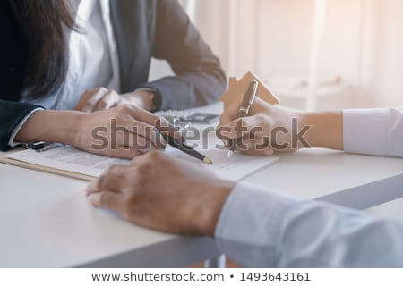 firma · contrato · imagen · empresario · mujer - foto stock © fantazista