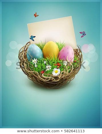 Pâques nature printemps illustration ciel arbre Photo stock © alinbrotea