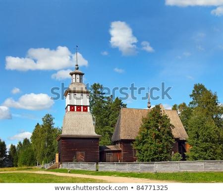 Petajavesi Old Church, Finland Stock photo © tainasohlman
