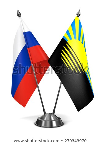 Russia and Donetsk - Miniature Flags. Stock photo © tashatuvango