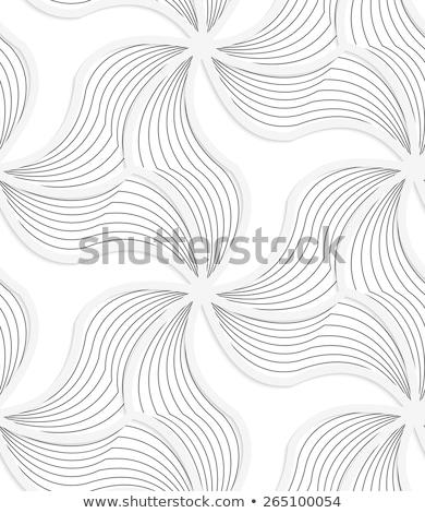 3d white wavy triangular grid with gray stripes stock photo © zebra-finch