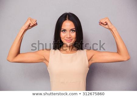 Atractivo desnudo mujer sonriente cámara Foto stock © dash
