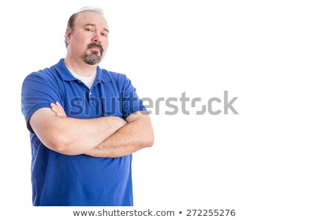 Serious Man Crossing his Arms in Aggressive Look Stock photo © ozgur