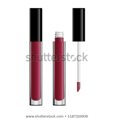 lipgloss · geïsoleerd · witte · gezicht · borstel · make - stockfoto © ozaiachin