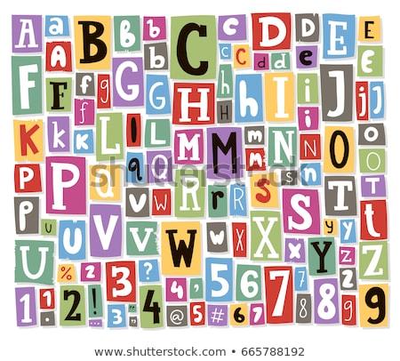 Mot couleur papier alphabet isolé Photo stock © Johny87