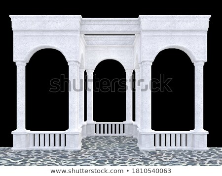 Beautiful historic arcade Stock photo © g215