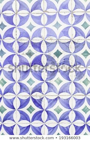Tipic pardoseala de gresie fatada Lisabona Portugalia perete Imagine de stoc © elxeneize