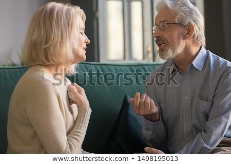 boldogtalan · pár · érv · otthon · emberek · kapcsolat - stock fotó © wavebreak_media