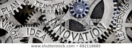 Visie ideeën metaal versnellingen mechanisme marketing Stockfoto © tashatuvango