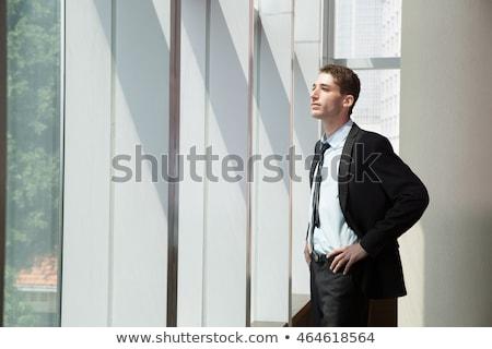 Grave imprenditore mani fianchi bianco uomo Foto d'archivio © wavebreak_media