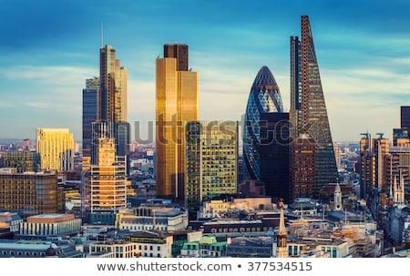 Pénzügyi negyed város London éjszaka iroda épület Stock fotó © AndreyKr