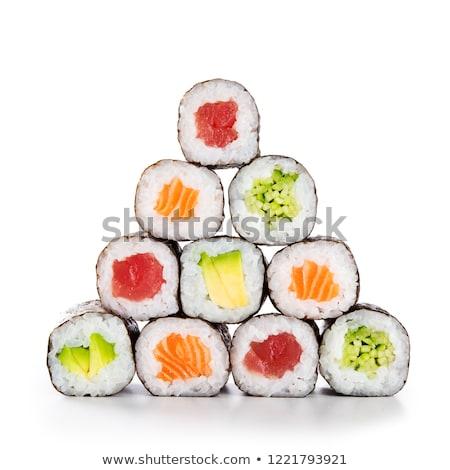Stock fotó: Finom · friss · japán · szusi · tekercsek · szett