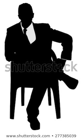 Businessman with leg on his knee Stock photo © wavebreak_media