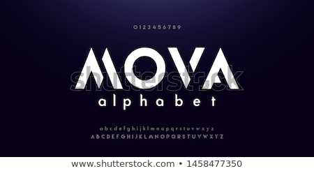 abstract vector logo letter a stock photo © netkov1