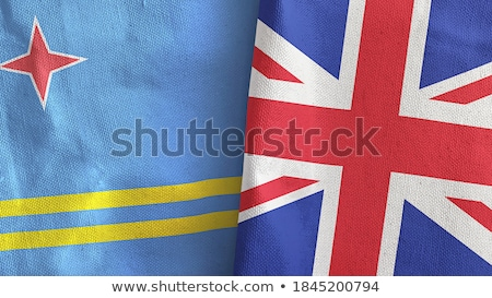 united kingdom and aruba flags stock photo © istanbul2009