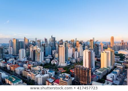 Manila · ufuk · çizgisi · metro · Filipinler · gökyüzü - stok fotoğraf © fazon1