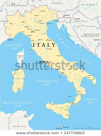 地図 イタリア 外に 孤立した 白 青 ストックフォト © Istanbul2009