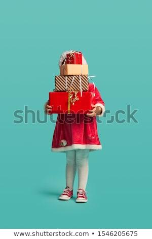 Kız elbise hediye güzel kız eller Stok fotoğraf © krugloff