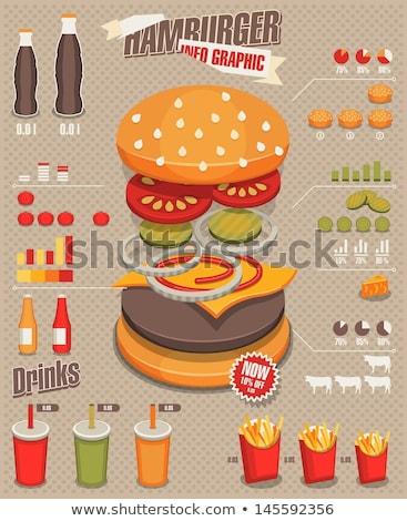 быстрого · питания · Кубок · соды · соломы · иллюстрация · смешные - Сток-фото © netkov1