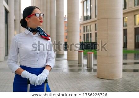 таинственный Lady за синий ткань портрет Сток-фото © roboriginal