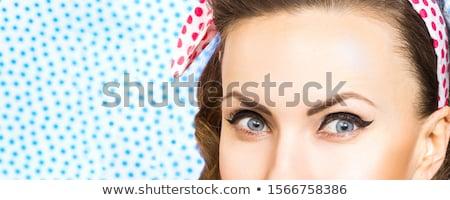 fashion retro blond woman portrait makeup detail Stock photo © lunamarina