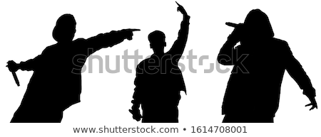zwarte · rapper · karakter · persoon · afrikaanse · muziek - stockfoto © clipartmascots