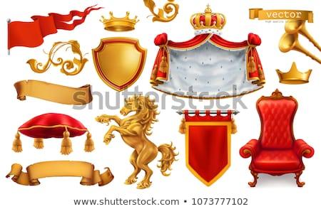 Corona rojo vector icono diseno digital Foto stock © rizwanali3d