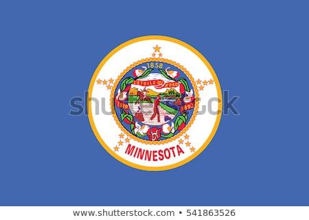 Bandeira Minnesota pormenor vento Foto stock © creisinger