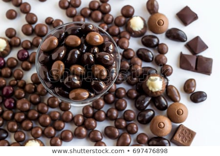 Stock fotó: Csokoládé · fedett · diók · választék · háttér · falatozó