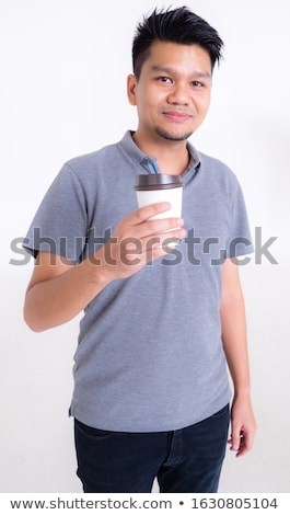 Sonriendo hombre maduro gris polo retrato cara Foto stock © meinzahn