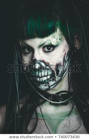 Stock fotó: Gótikus · lány · magasról · fotózva · kilátás · divat · haj