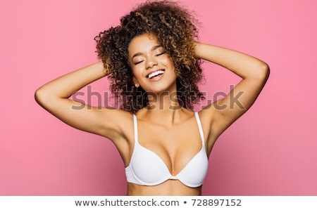 Laughing woman in bra  Stock photo © deandrobot