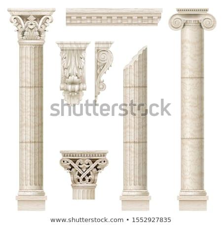 Ionica colonne silhouette bianco nero eps architettura Foto d'archivio © jara3000