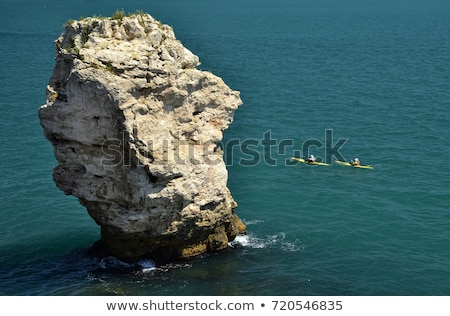 lone kayaker near the cliffs Stock photo © morrbyte