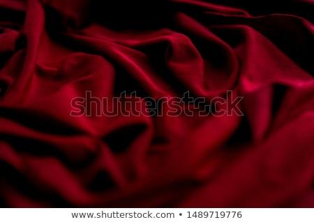 Red satin fabric Stock photo © grafvision