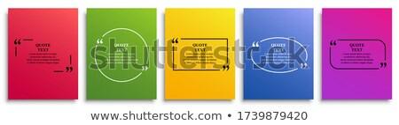 Citar texto burbuja vector stock elemento Foto stock © fotoscool