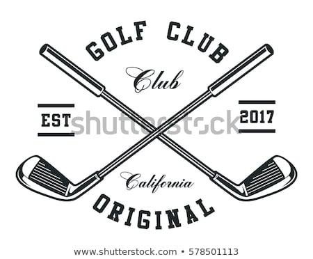 Сток-фото: гольф · клуба · мяча · изолированный · белый · трава