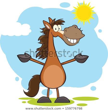 Horse Cartoon Character Stok fotoğraf © HitToon