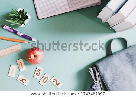 Tabela muitos coisas ilustração café caneta Foto stock © bluering