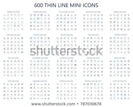 web outline icons stock photo © anatolym