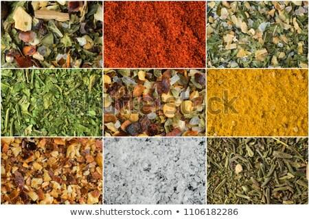 Thyme, chili and lemon peel. Stock photo © lidante